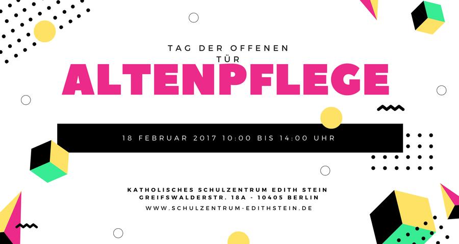 Pflege - Tag der offenen Tür am 18. Februar 2017