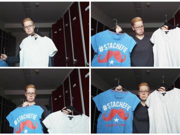 Eva weiß nicht, welches T-shirt sie zur arbeit anziehen kann